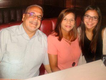 Photo of Joe Gitto, wife Amarilis, and daughter Melanie